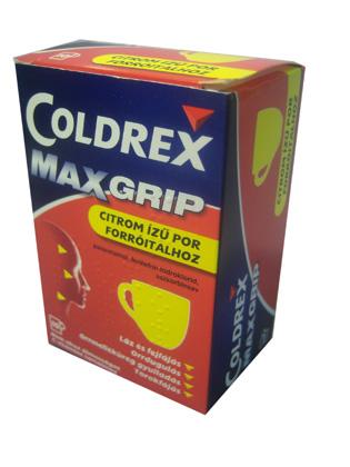 Coldrex MaxGrip citrom ízű forró italpor 10x *
