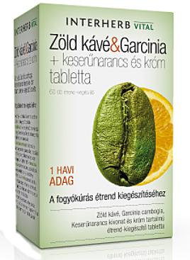 Zöld kávé és Garcinia tabletta 60x Interherb *