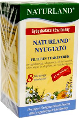 Nyugtató tea filteres 20x1g Naturland *