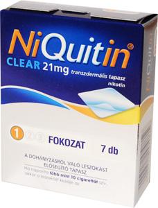 NiQuitin CQ Clear 21 mg transzdermális tapasz 7x *