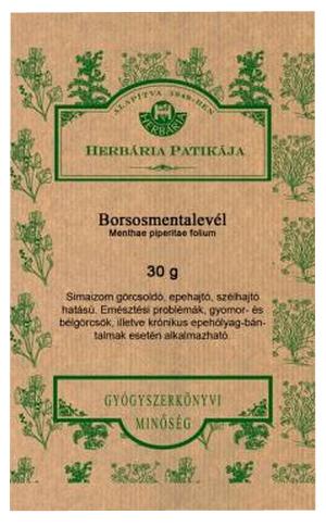 Borsosmentalevél 30g Herbária *