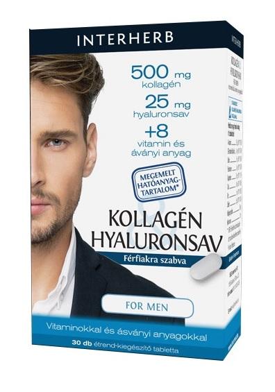 Interherb Vital Kollagén és Hyaluronsav for men kapszula 30x *