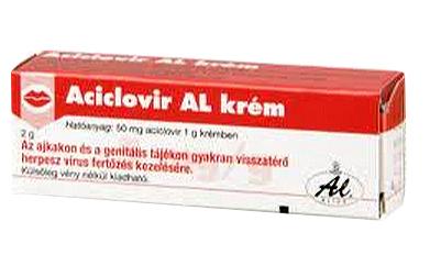 Aciclovir AL krém 2g herpeszre *