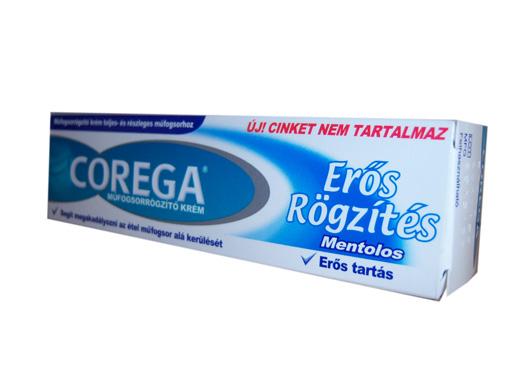 Corega extra strong műfogsorrögzítő krém 40g *
