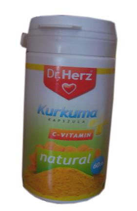 Kurkuma + C-vitamin kapszula 60x Dr. Herz *