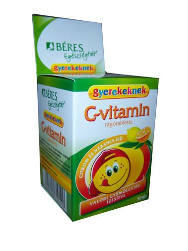 Béres C vitamin rágótabletta gyermekeknek 30x *
