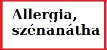 Allergia, szénanátha kezelése