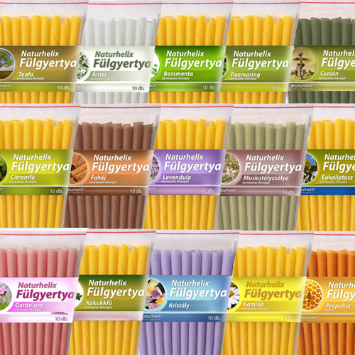 Fülgyertya Naturhelix 10x (natúr, teafa, levendula, citromfű, stb.) *