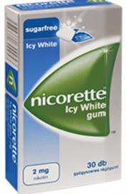 Nicorette Icy White gum 2mg gyógyszeres rágógumi 30x