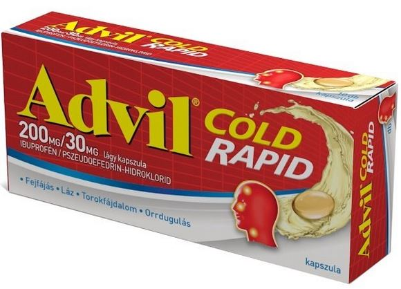 Advil Cold Rapid 200mg/30mg lágy kapszula 10x