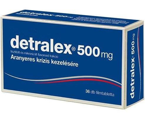 Detralex visszér tabletta ára