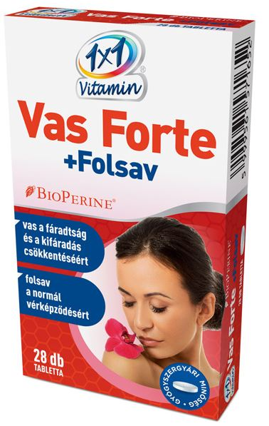 Vas Forte + C + folsav tabletta 28x Vitaday